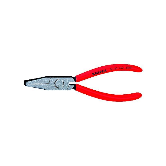 Knipex Alicate con bocas planas para vidrio negro atramentado 160mm 91 61 160
