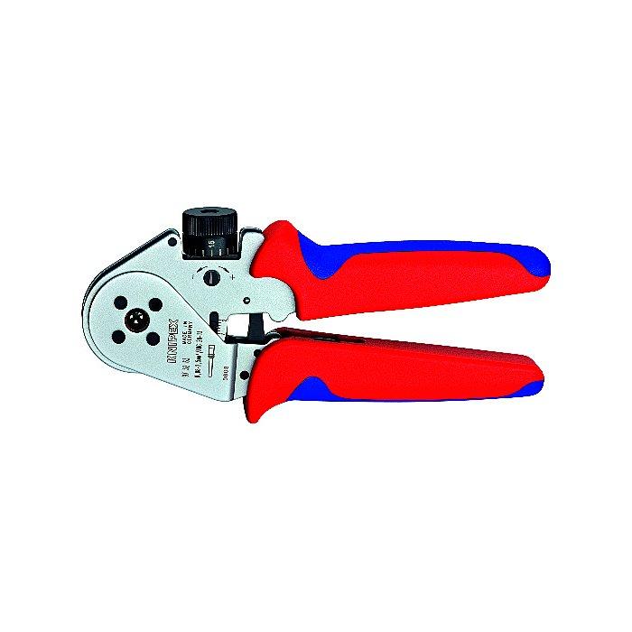 Knipex Alicate para entallar terminales girados cromado 180mm 97 52 63