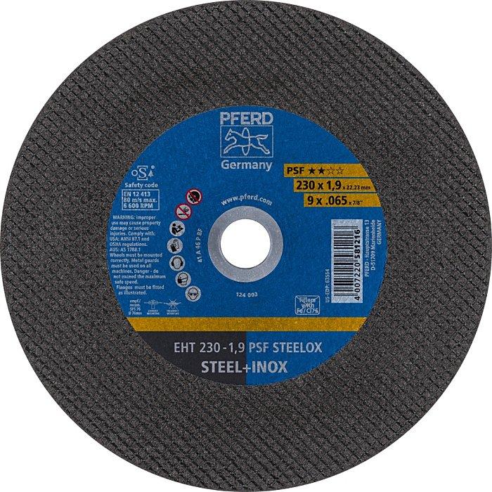 PFERD Discos de corte EHT 230-1,9 PSF STEELOX 61728131