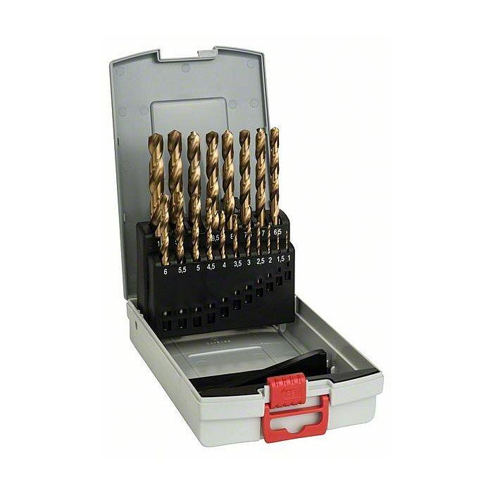 Bosch Metallbohrer-Set HSS-TiN (Titan-Beschichtung), ProBox, 19-teilig, 1-10 mm 2608587015
