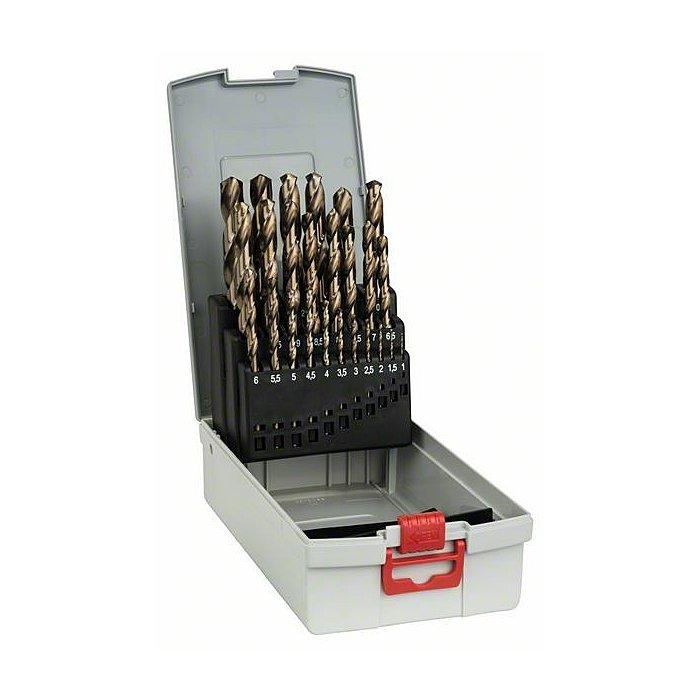Bosch Metallbohrer-Set HSS-Co (Cobalt-Legierung), ProBox, 25-teilig, DIN 338, 1-13 mm 2608587018