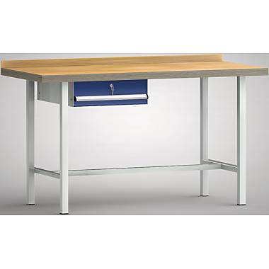 KLW Standard-Werkbank - 1500 x 700 x 900 mm L x T x H, (ERGO-Version) WS001E-1500M40-E7001