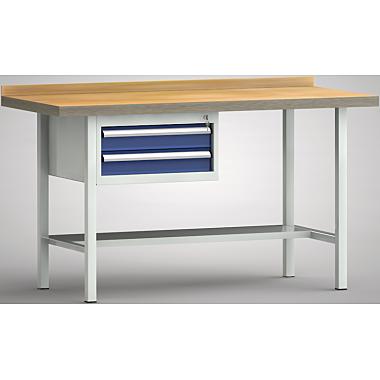 KLW Profi-Werkbank - 1500 x 700 x 905 mm L x T x H, (ERGO-Version) WP102E-1500M45-E1620