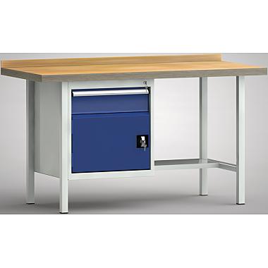 KLW Profi-Werkbank - 1500 x 700 x 905 mm L x T x H, (ERGO-Version) WP118E-1500M45-E1681