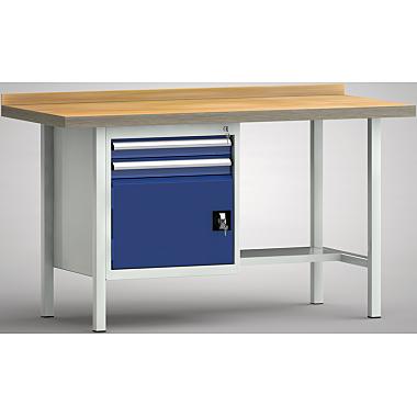 KLW Standard-Werkbank - 1500 x 700 x 900 mm L x T x H, (ERGO-Version) WS118E-1500M40-E1691