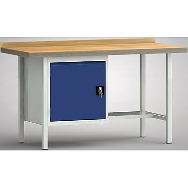 KLW Standard-Werkbank - 1500 x 700 x 900 mm L x T x H, (ERGO-Version) WS118E-1500M40-X7026