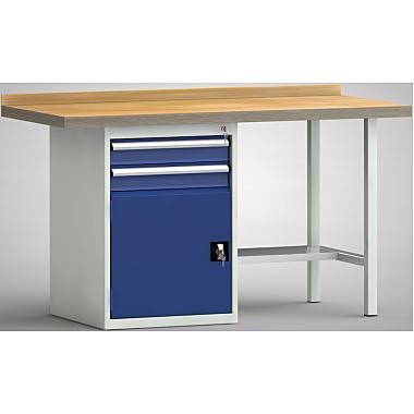 KLW Standard-Werkbank - 1500 x 700 x 900 mm L x T x H, (ERGO-Version) WS184E-1500M40-E7022