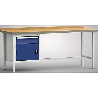 KLW Standard-Werkbank - 2000 x 700 x 900 mm L x T x H (ERGO-Version) WS116E-2000M40-E1681