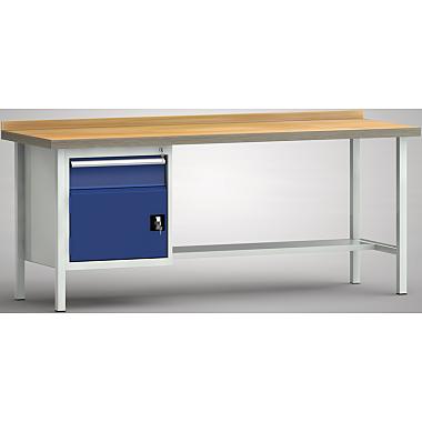 KLW Standard-Werkbank - 2000 x 700 x 900 mm L x T x H, (ERGO-Version) WS118E-2000M40-E1681