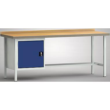 KLW Standard-Werkbank - 2000 x 700 x 900 mm L x T x H, (ERGO-Version) WS118E-2000M40-X7026