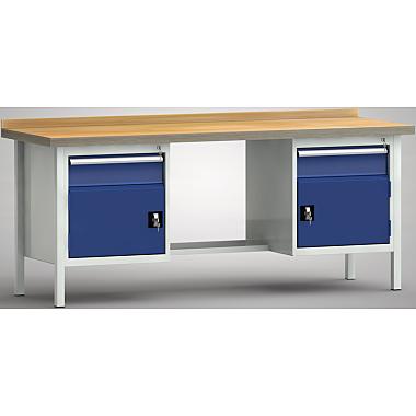 KLW Standard-Werkbank - 2000 x 700 x 900 mm L x T x H, (ERGO-Version) WS202E-2000M40-E2001