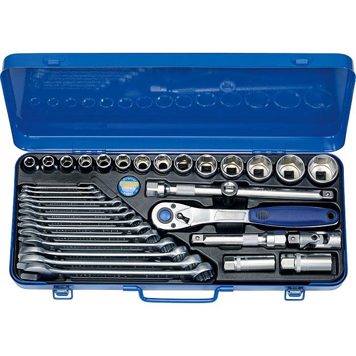 Heyco Kombinierte Steckschlüssel- und Ringmaulschlüsselgarnitur, 33-teilig 50860301580