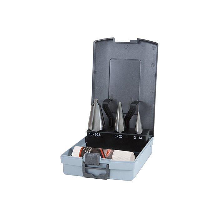 Ruko Assortimento di frese coniche HSS in cassetta di plastica 101020RO