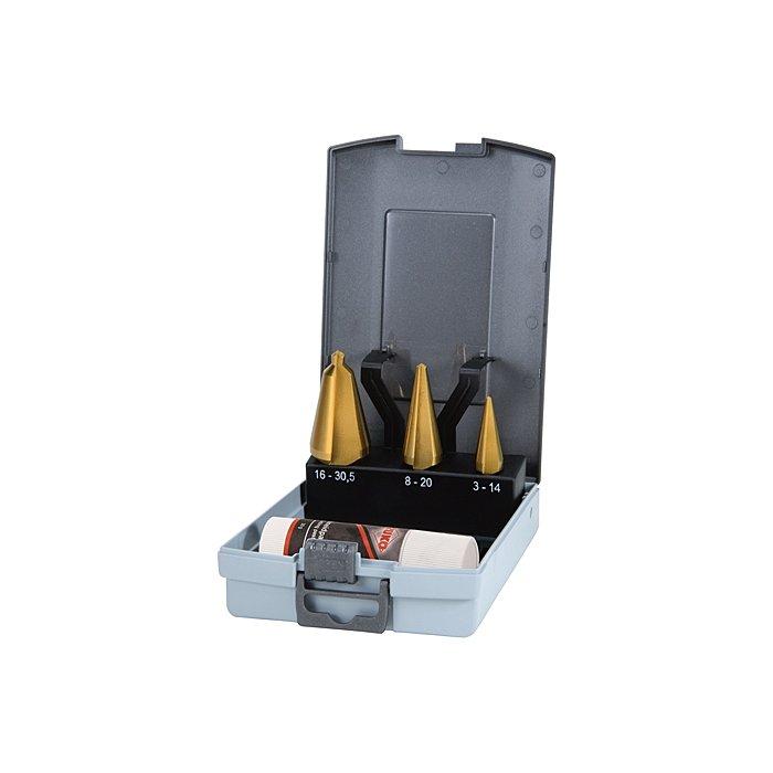 Ruko Assortimento di frese coniche HSS TiN in cassetta di plastica 101020TRO