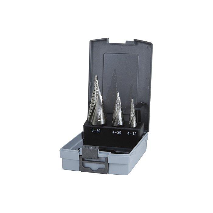 Ruko Assortimento di frese a gradini HSS Co 5 in cassetta di plastica 101026ERO