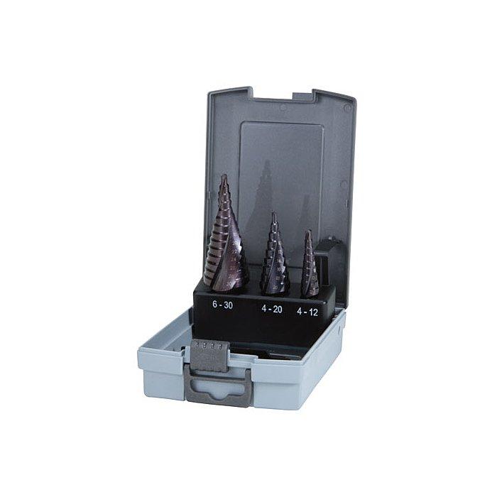 Ruko Assortimento di frese a gradini HSS-TiAlN in cassetta di plastica 101026FRO