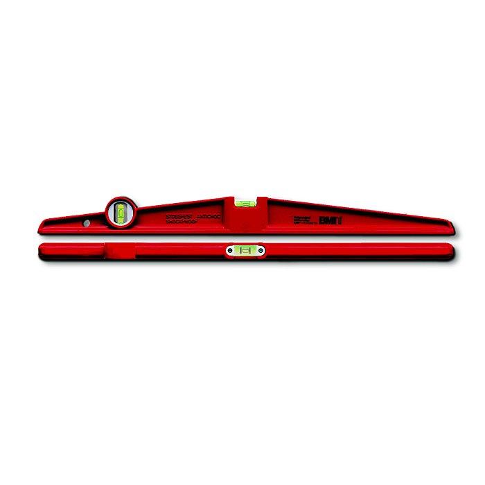 BMI Alu-Druckguß-Wasserwaage TRAPEZ - 80cm, rot 666080