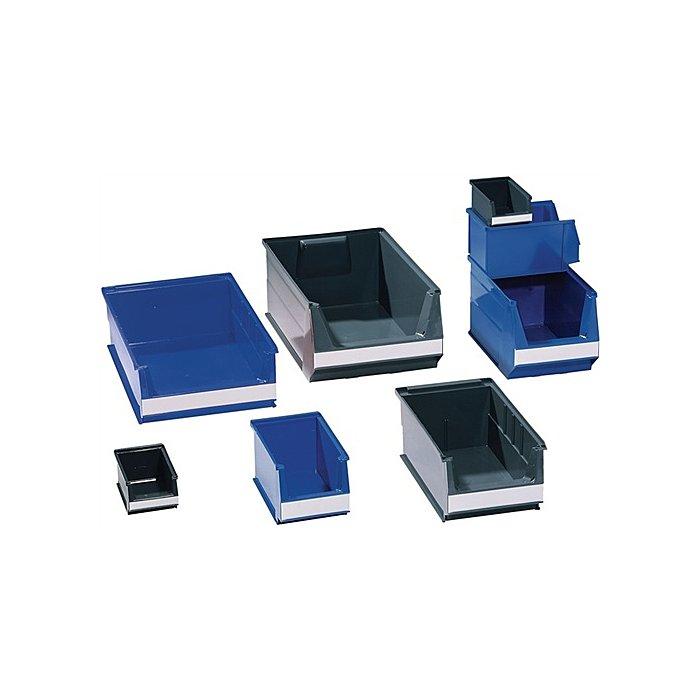 Lockweiler Sichtlagerkasten blau f.ca.2,6l L.230/200xB.150xH.130mm a.PE stapelbar 19100424