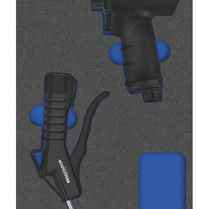 MATADOR MTS R: Druckluftwerkzeuge, 2-tlg., 1/3: 390x190mm 8164 1700