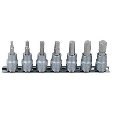 """KS Tools 1/4"""" Bit-Stecknuss-Satz Innen6kant, 7-tlg 2,5-8mm 911.1544"""
