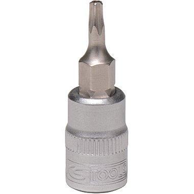 """KS Tools 1/4"""" Bit-Stecknuss 5stern m.Bohrung, TS15 911.1702"""