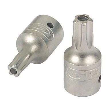 KS Tools 1/4 Bit-Stecknuss 5stern m.Bohrung, TS8 911.2471