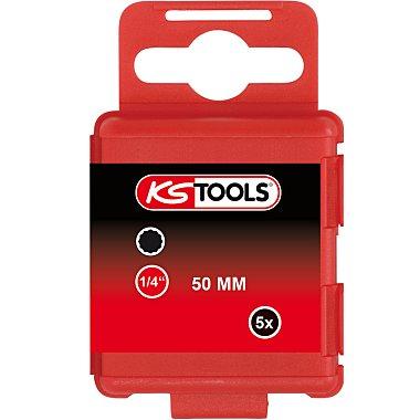 """KS Tools 1/4"""" Bit XZN, 50mm, M6, 5er Pack 911.2711"""