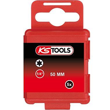 """KS Tools 1/4"""" Bit TX, 50mm, T9, 5er Pack 911.2723"""