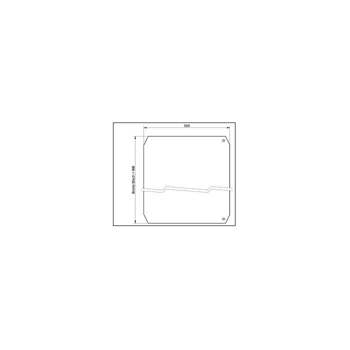 ALTEC RLS Auffahrblech, inkl. Montagematerial, L: 500 mm x B: 800 RLS + 914 Blech mm, RLS - Reha Laufsteg 081.40.400