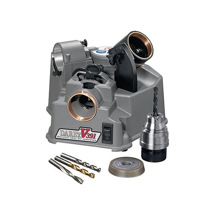 Drill Doctor Spiralbohrer-Schleifmasch.Darex V-391 3,0-19,0mm/HSS+HSS-E/Spitzenw.118-140 Grad 32403