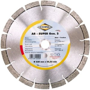Cedima 230mm AR-Super Generation 2 22,23mm 2,4 x 12 x 36mm 10000074