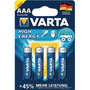 Batterie Alkaline Kapaz. 1240 mAh Äquivalenz AAA-AM4-Micro 1,5V High Energy