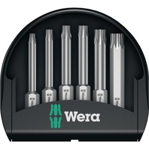Wera Bit-Sortiment 6tlg.Bits 50mm Torx Kunststoffbox Mini-Check TX 50mm 5056472001