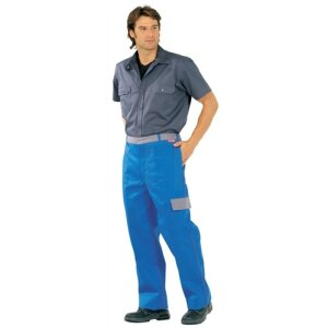 Bundhose, Major Protect Gr. 48 kornblau/grau DIN 470-1, EN 531, EN 114