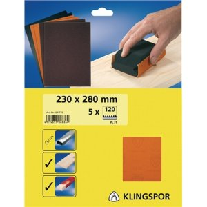 Finishingpapier PL 31 B.230xL.280mm K.240 ungelocht Bogenware