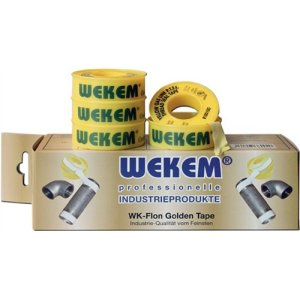 Gewindedichtband PTFE Golden Band 12,7mm x 12m gelb