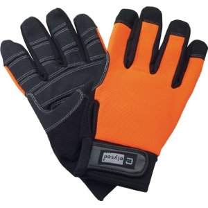 Handschuh EN 420 Kat.I Mechanical Builder Gr.10 Kunstleder schwarz/orange