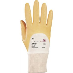 Handschuhe Monsun 105 Gr. 9 curry Nitril m. Strickbund KCL