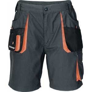 Herrenshorts Gr.50 dunkelgrau/schwarz/orange 65%PES/35%CO 270g/m2