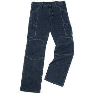 Jeans-Arbeitshose Gr.50 denim-blue 98%CO/2% Elastan PIONIER m.Beintaschen