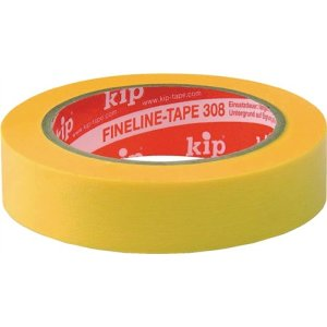 Kip 308 FineLine-tape Washi gelb L.50m B. 38mm