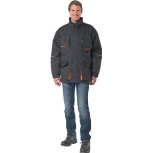 Parka Gr.M dunkelgrau/schwarz/orange 60%PES/40%CO