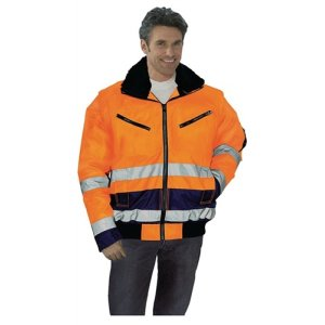 Pilotenjacke Gr.XL orange/blau EN20471/343 Kl.2