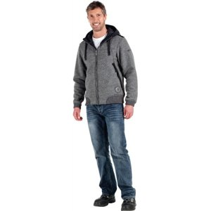 Pullover- Jacke Felipe Gr.XL, anthrazit, 60%PES/40%Wolle
