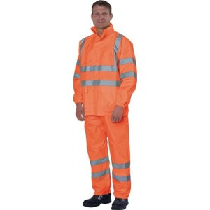 Regenbundhose Gr.XL, orange EN471 Kl.2 / EN343