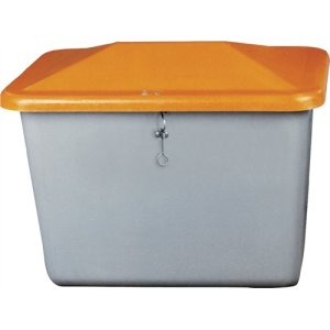 Streugutbox Plus 200l grau/orange 890x590x670mm o.Entnahmeöffn.