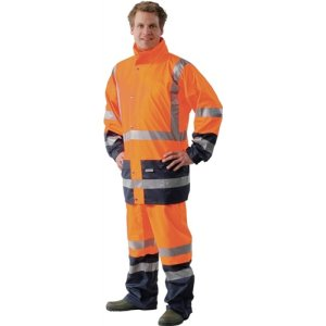 Warnschutz-Regenjacke orange/marine Gr.L HIGH-VIS OCEAN Comfort Stretch