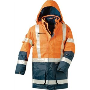 Warnschutzparka 4in1 orange/marine Gr.M EN471