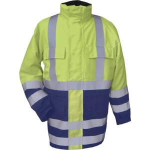 Wetterschutzjacke m.Steppfutter Gr. XL gelb/marine SPenergy by Kompass