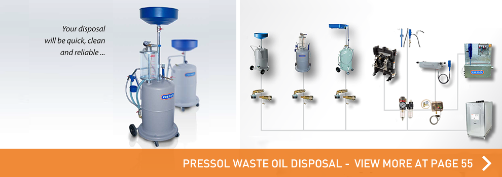 Go to the waste oil disposal by PRESSOL